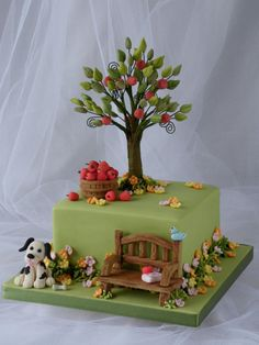 A quiet corner in the garden - Cake by Marlene - CakeHeaven