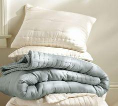 Olivia Silk Nesting Quilt & Sham   Pottery Barn
