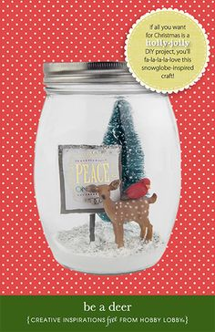 If all you want for Christmas is a holly-jolly DIY project, you'll fa-la-la-la-love this snow globe-inspired craft!