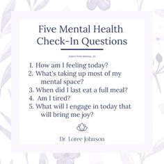 As the weekend approaches, take a few moments to ask yourself a few questions. Your answers may give you an idea of where to focus your self-care efforts. Mental Health Check, Best Of Intentions, Human Connection, Marriage And Family, Personal Goals, Sobriety, To Focus, Fertility, Self Care