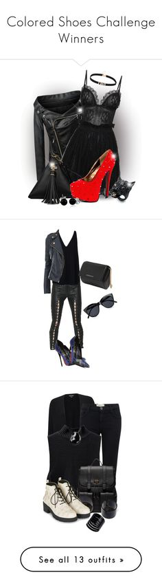 """""""Colored Shoes Challenge Winners"""" by karen-of-abog ❤ liked on Polyvore featuring Chicnova Fashion, Alexander McQueen, Alexis Bittar, Bling Jewelry, Unravel, STELLA McCARTNEY, Lust For Life, Le Specs, Givenchy and Miss Selfridge"""
