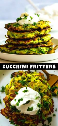 These Easy Zucchini Fritters are a great way to use up extra zucchini and find a creative way to eat your vegetables! Crispy golden zucchini fritters will make even picky eaters happy!