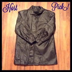 Host Pick! Leather Jacket Unisex leather jacket. Has fleece lining that is removable. Heavy item. Will need to add to the sale price for shipping  Phase 2 Jackets & Coats