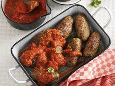 Hackfleischröllchen auf italienische Art mit Tomatensoße - smarter - Zeit: 30 Min. | eatsmarter.de