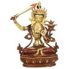 Tibetan Buddhism: Copper Manjushri Statue