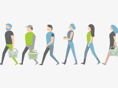 A bunch of very simple walk cycles of people from a project a few months back.