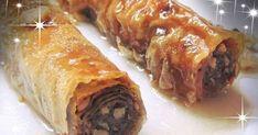 ❣❣ΜΠΑΚΛΑΒΑΔΑΚΙΑ ΜΑΣΟΥΡΑΚΙΑ❣❣ ΥΛΙΚΑ❣ 1 Πακέτο φύλλο Βηρυτού 2 φλιτζάνες του τσαγιού καρύδια 1/2 φλιτζάνα του τσαγιού φρυγανιά τριμμένη 2 κ... Greek Desserts, Meatloaf, Recipes, Friends, Food, Amigos, Meal, Boyfriends, Eten