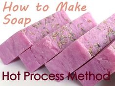 how to make hot process soap
