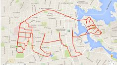 In Pictures: B.C. cyclist creates whimsical pictures using GPS app