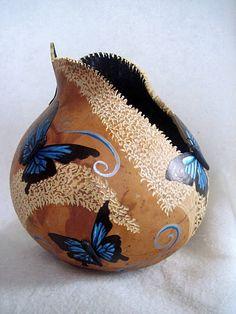 blue butterfly gourd by Joanna Helphrey