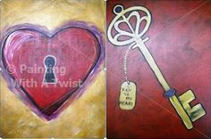 The key to my heart - painting idea