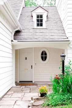 house body painted with Benjamin Moore Atrium White.