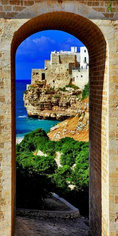 View of Polignano al mare, Puglia, Italy