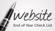 Year-End Website Check List