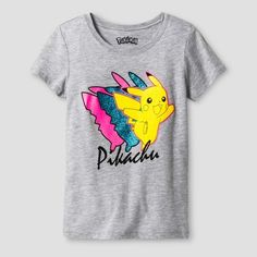 Pokemon Girls' Pokémon Pikachu Short Sleeve T-Shirt - Athletic Heather I may receive compensation from the affiliated link. #affiliated #pokemom