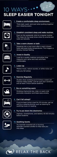 10 Ways to Sleep Easier Tonight