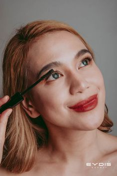 Eydis Mascara fans out lashes from root to tip. Brighten up your eyes and rock this look. Fan Out, Make Up Collection, Norway, Mascara, Lashes, Fans, Rock, How To Make, Beauty