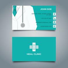 Зеленый медицинская визитная карточка Бесплатные векторы