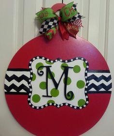 Hey, I found this really awesome Etsy listing at https://www.etsy.com/listing/169163912/christmas-ball-door-hanger