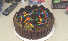 Kit Kat cake!! Made for a grooms cake.