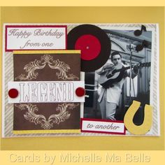 Handmade Birthday Card Johnny Cash Happy Birthday from One Legend to Another