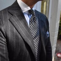 """I understand & wish to continue - violamilano: """" Viola Milano handprinted silk tie & pocket square combined with our luxury busines - Sharp Dressed Man, Well Dressed Men, Mens Fashion Suits, Mens Suits, Gents Fashion, Suit Shirts, Pinstripe Suit, Business Shirts, Tie And Pocket Square"""