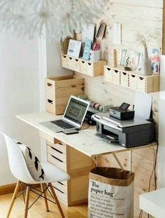 Separate desk space