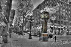Famous steam clock in Gastown,   Vancouver, British Columbia     Been there, seen it!!