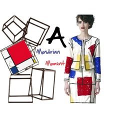"""""""Where Art and Fashion Collide - A Mondrian Moment"""" by latoyacl on Polyvore"""