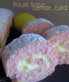 Roulé fraise et lemon curd -