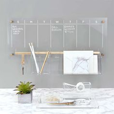Dry Erase Calendar, Wall Accessories, Home Office Accessories, Home Office Decor, Home Decor, Creative Office Decor, Office Decorations, Office Walls, Gold Office