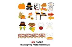 GroopDealz | FREE SHIPPING - Printable Thanksgiving Photo Booth Props