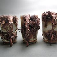 Mary O'Malley bottom feeder cups beautiful pieces, ceramic inspiration