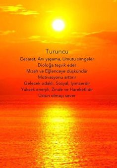 Renklerin psikolojisi: turuncu Color Meanings, Thing 1, Yoga Routine, Color Of Life, Positive Life, Self Improvement, Good To Know, Art Lessons, Cool Words