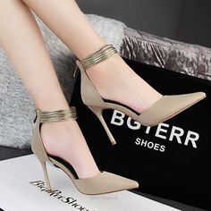 Ankle Straps High Heels Shoes-shoes-Tac City Goods Co. https://www.taccitygoods.com/products/ankle-straps-high-heels-shoes