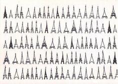 So many ways to draw the Eiffel Tower.