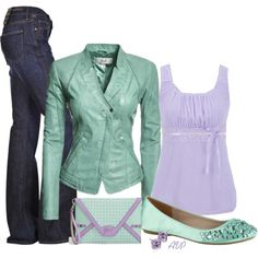Aqua and Lilac...wouldn't think so but it actually looks kinda cute