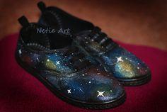 more handpainted ~space~ sneakers