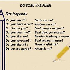 English Writing, English Words, English Lessons, Learn English, English Language, Vocabulary Journal, Turkish Lessons, Learn Turkish Language, Language Quotes