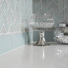 Islandia Barbados Matte and Glossy Chevron Glass Tile