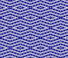 Tilting Blue Waves of Fractal fabric by clotilda_warhammer on Spoonflower - custom fabric