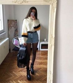 Flawless Summer Outfits Ideas For Slim Women That Looks Cool - Oscilling Look Fashion, 90s Fashion, Korean Fashion, Winter Fashion, Fashion Outfits, Womens Fashion, Fashion Trends, Fashion Mode, Fashion Shorts