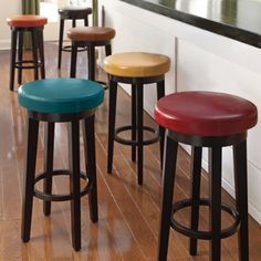 Dublin Leather Swivel Bar Stool - Grandin Road
