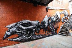 Más murales de ROA en Melbourne