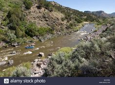 River rafting on the Rio Grande near Pilar, New Mexico. Stock Photo