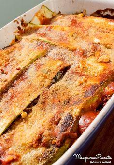 Receita de Lasanha de Abobrinha com Carne, Queijo e Molho Tomate - Receitas do Bem