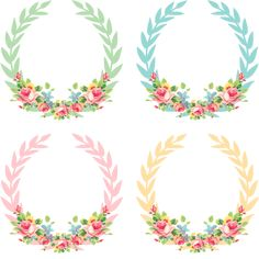 Vintage Freebie with Keren: Pretty Shabby Digital Wreaths Printable Labels, Free Printables, Decoupage, Floral Vintage, Diy And Crafts, Paper Crafts, Free Graphics, Grafik Design, Planner Stickers