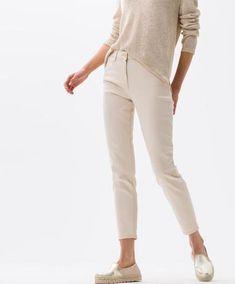 BRAX - Shakira Sun - Pantalon de coton Free to move White Jeans, Capri Pants, Khaki Pants, Menswear, Collection, Lady, Sun, Free