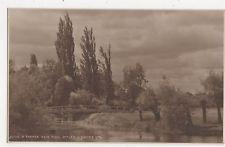 R Thames Weir Pool Iffley Vintage Postcard 356a