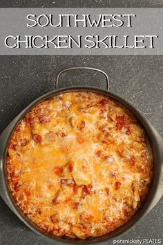 Southwest Chicken Skillet - a 30 minute meal | Persnickety Plates